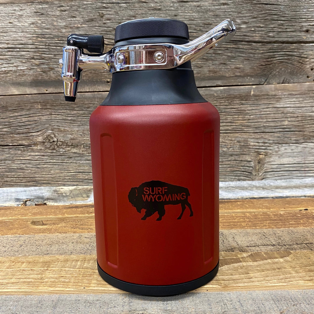 Surf Wyoming-uKeg GO 64oz Growler - Bison Red-