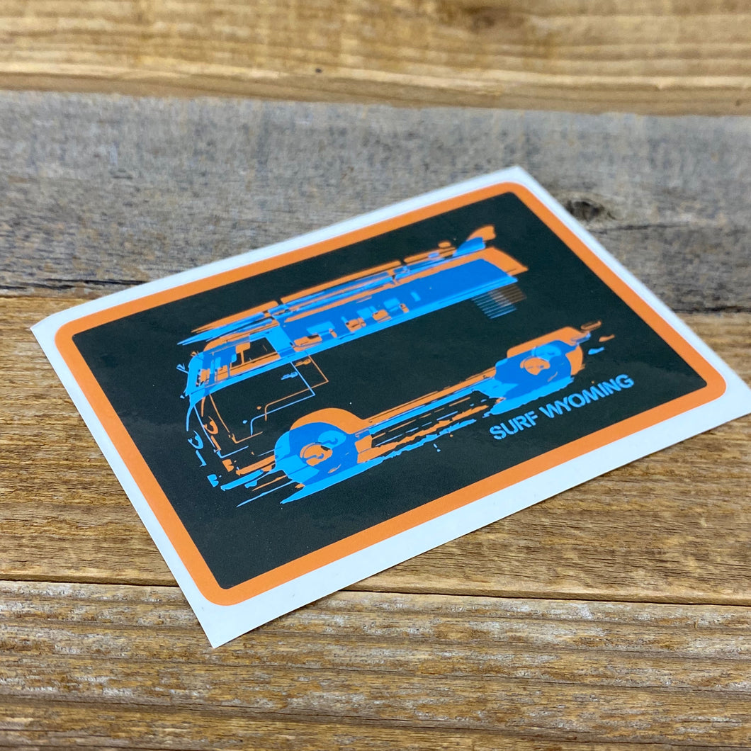 Surf Wyoming-Surf Wyoming Vanlife 2.0 in 3D Sticker-