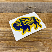 Load image into Gallery viewer, Surf Wyoming-Surf Wyoming Intermix Bison Sticker - Yellow/Blue-