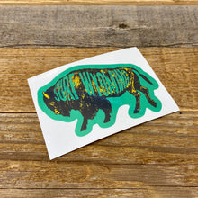 Load image into Gallery viewer, Surf Wyoming-Surf Wyoming Intermix Bison Sticker - Green/Yellow-