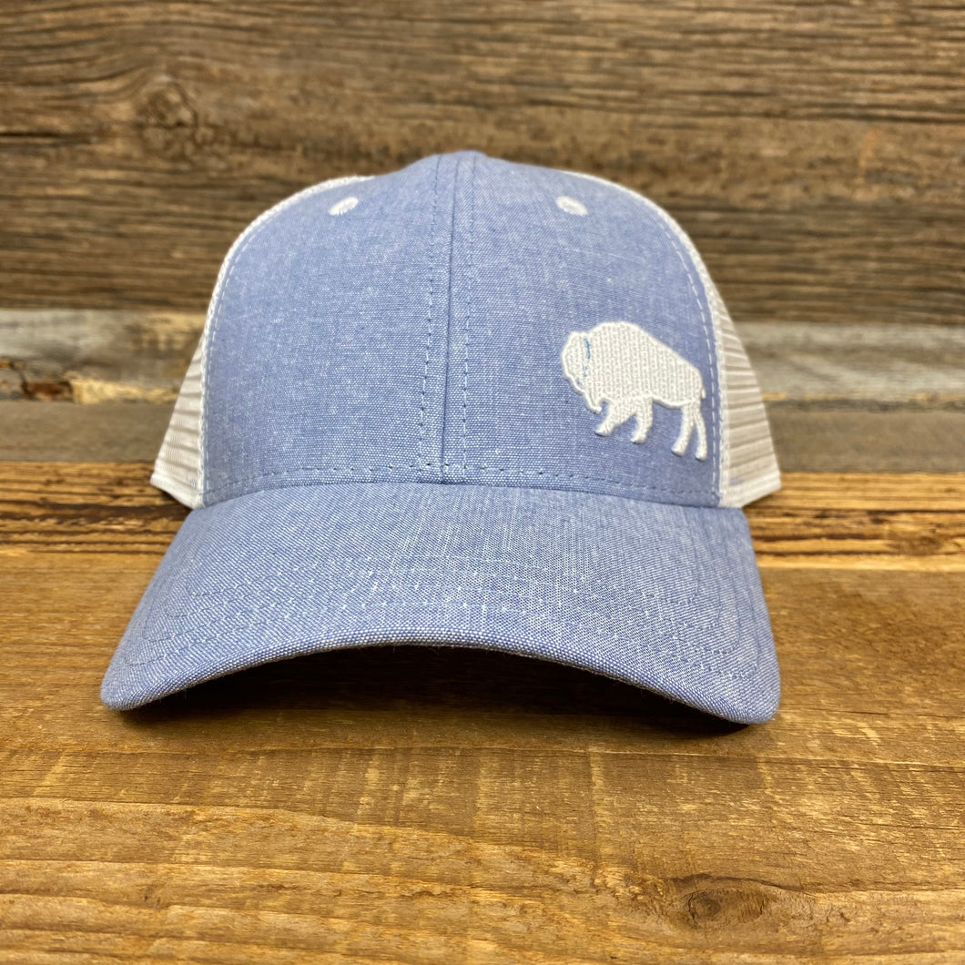 First Park Bison Trucker - Light Blue Chambray
