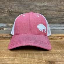 Load image into Gallery viewer, First Park Bison Trucker - Scarlet Chambray Linen