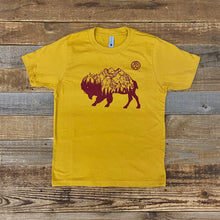 Load image into Gallery viewer, Surf Wyoming-Youth Bison Peak Tee - Mustard-