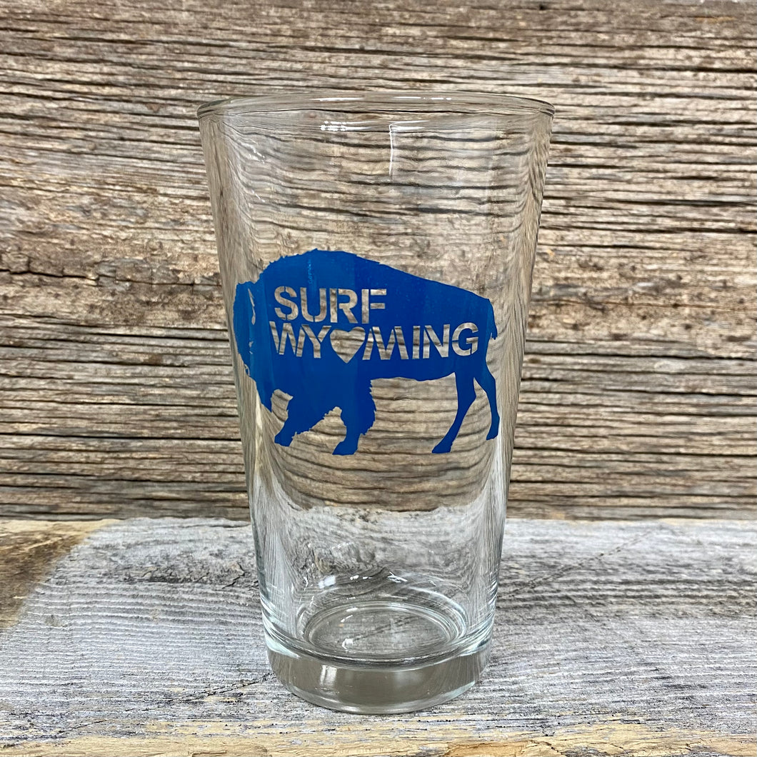 Surf Wyoming Big Bison Love Pint - Bluebell