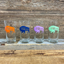 Load image into Gallery viewer, Surf Wyoming Big Bison Love Pint - a set of 4
