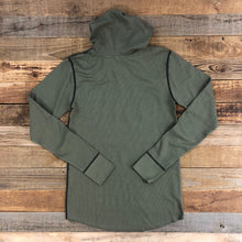 Load image into Gallery viewer, Unisex Bison Logo Hooded Thermal - Military Green