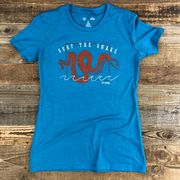 Women's Surf Wyoming® Surf The Snake Tee - Teal