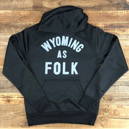 Surf Wyoming-UNISEX SURF WYOMING® Wyoming As Folk Hoodie - Black-
