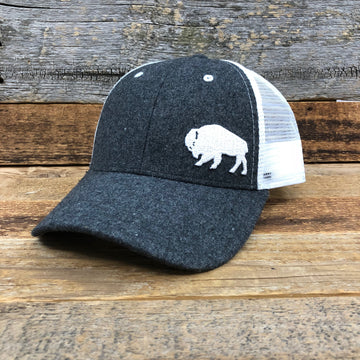 First Park Bison Trucker Hat - Felt Dark Grey