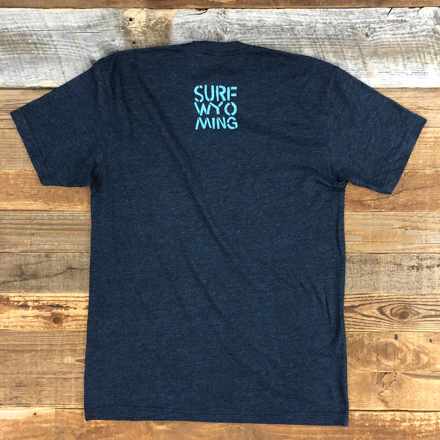 Men's SURF WYOMING® Bison Peak Tee - Midnight Navy