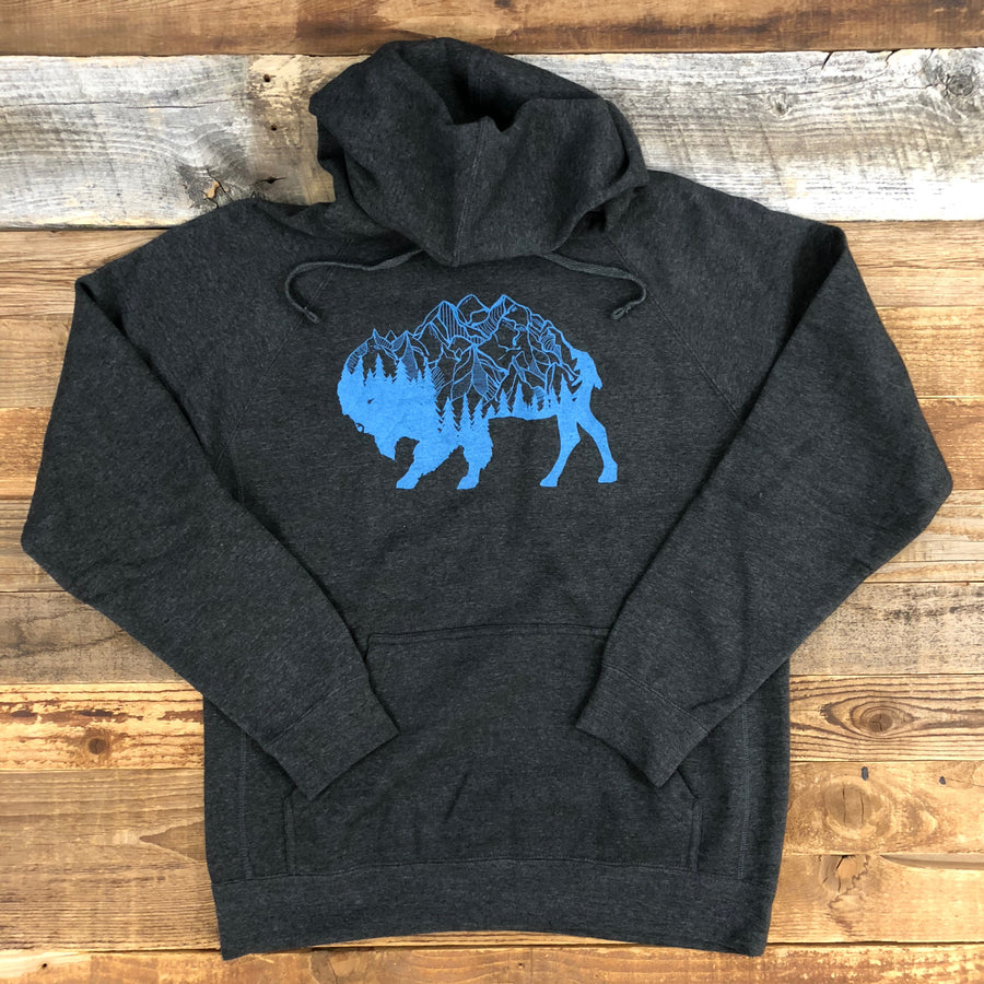 UNISEX SURF WYOMING® Bison Peak Hoodie - Charcoal