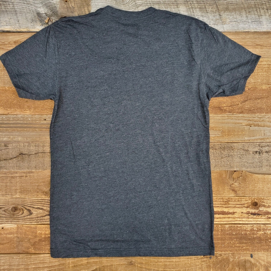 Men's Surf Wyoming® Outline Bison Logo Tee - Dark Charcoal