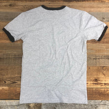 Load image into Gallery viewer, Men's Bison Logo Ringer Tee - Heather Grey