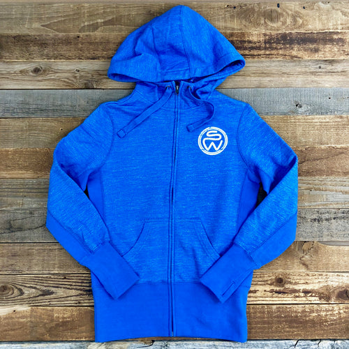 Surf Wyoming-Women's Surf Wyoming® Rangin' Zip Hoodie - Oceana Blue-