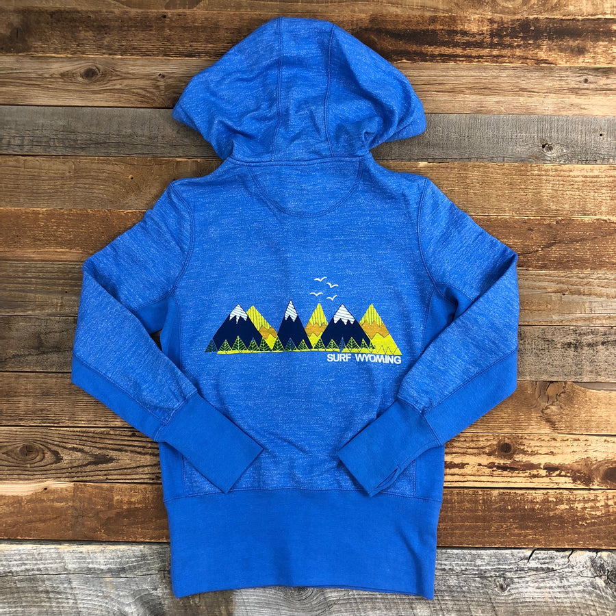 Women's Surf Wyoming® Rangin' Zip Hoodie - Oceana Blue