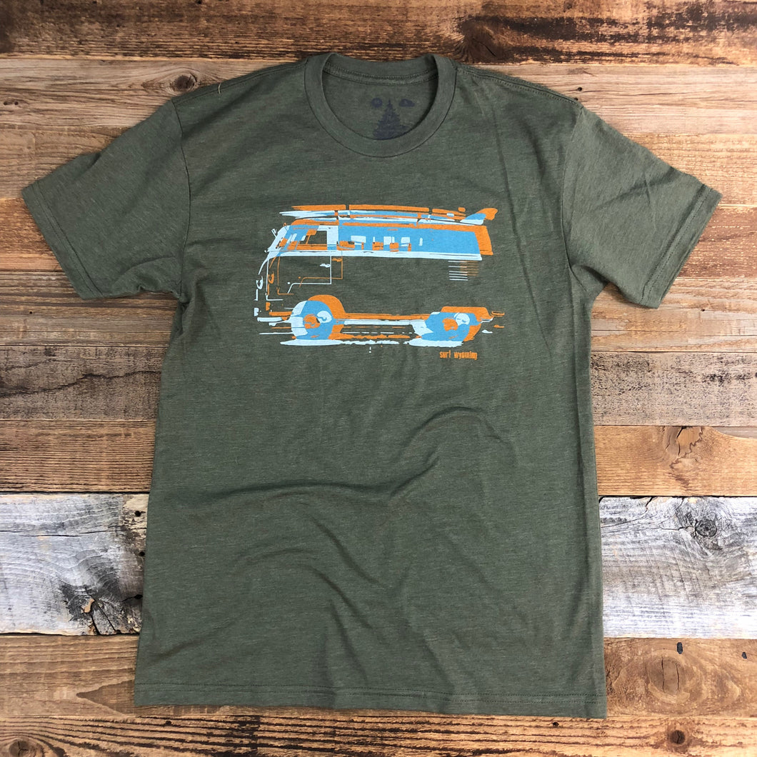 Surf Wyoming-Men's SURF WYOMING® Vanlife 2.0 - Military Green-