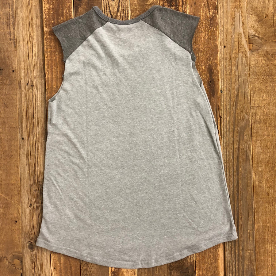 Women's Surf Wyoming® Vintage Sleeveless Raglan - Grey/Grey