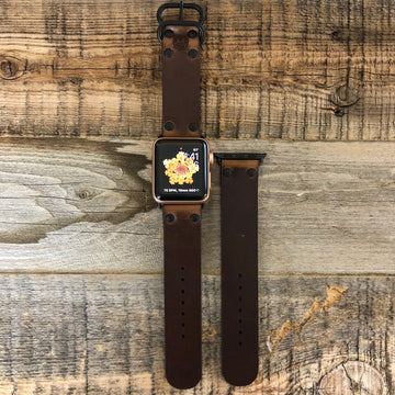 Surf Wyoming Leather APPLE iWatch Band- Brown