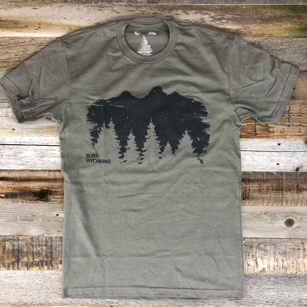 Surf Wyoming-Men's SURF WYOMING® Timberline Tee - Warm Grey-