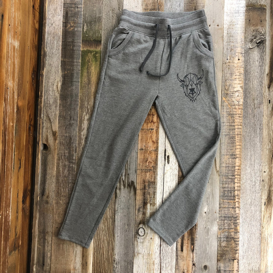 Women's Surf Wyoming® Digi Bison Hangover Pant - Heather Grey