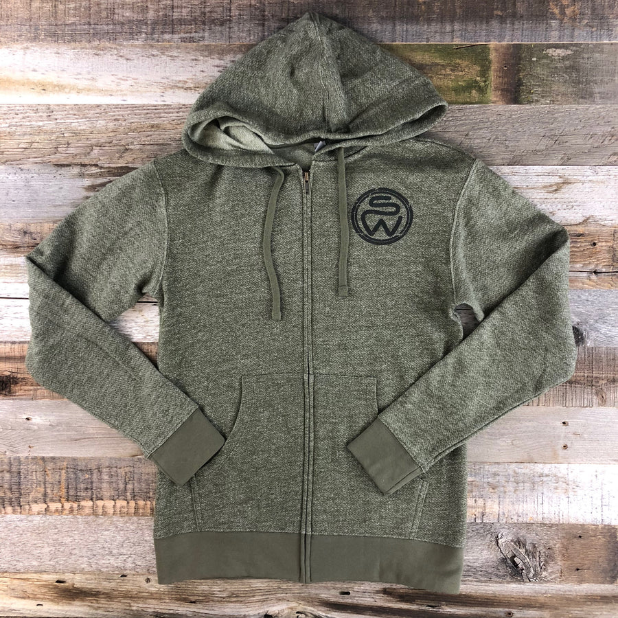 UNISEX Surf Wyoming® Timberline Hoodie- Heather Green
