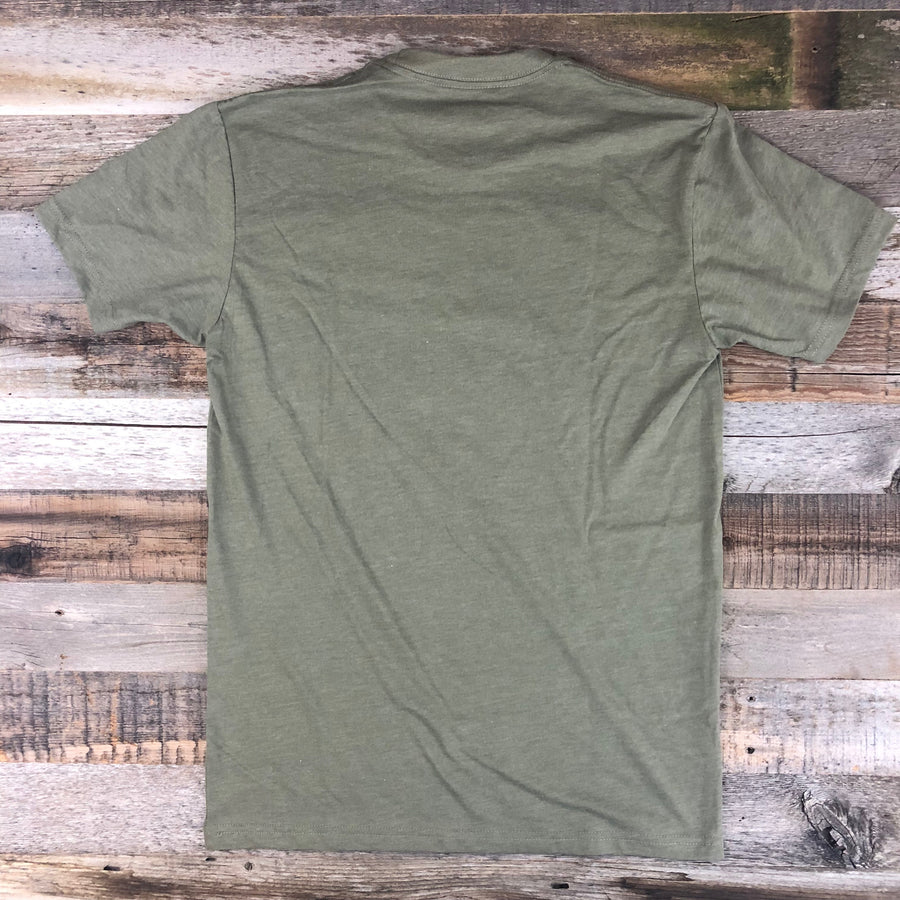 Men's SURF WYOMING® Bison Quiver tee - Olive Green