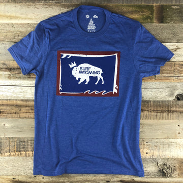 Men's SURF WYOMING®  Foam State Tee - Royal Blue