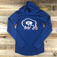 Load image into Gallery viewer, Surf Wyoming-Unisex Bison Surf AR Hooded Thermal- Blue-