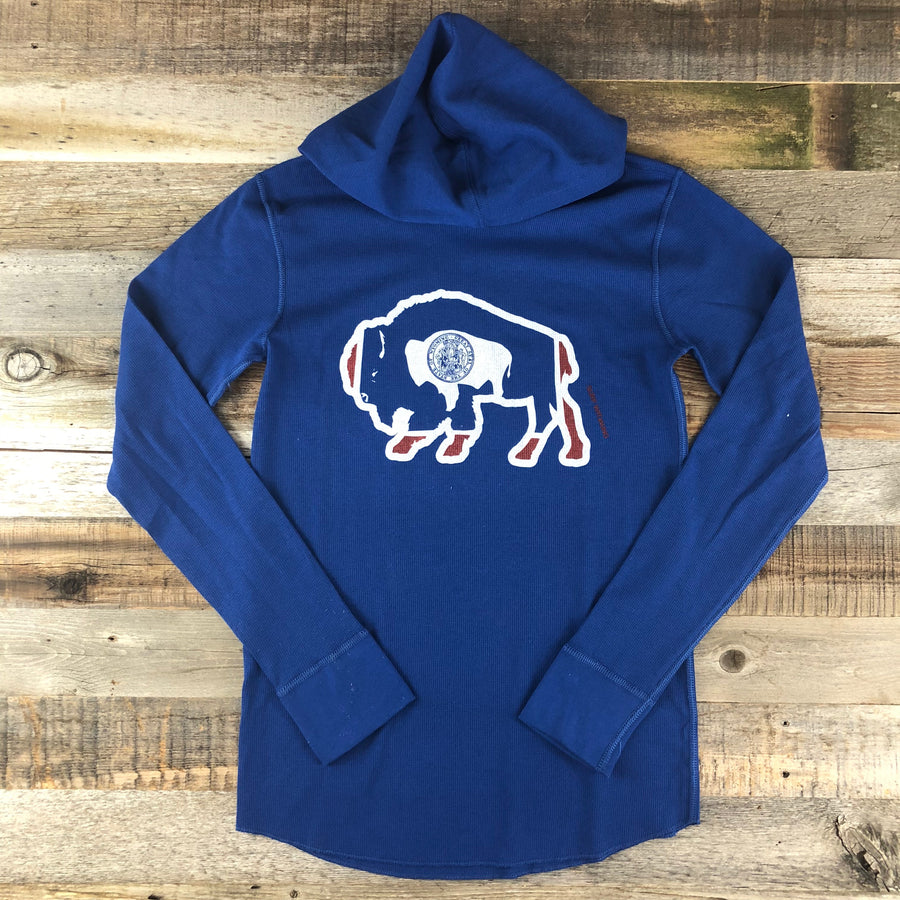Unisex Bison Surf AR Hooded Thermal- Blue