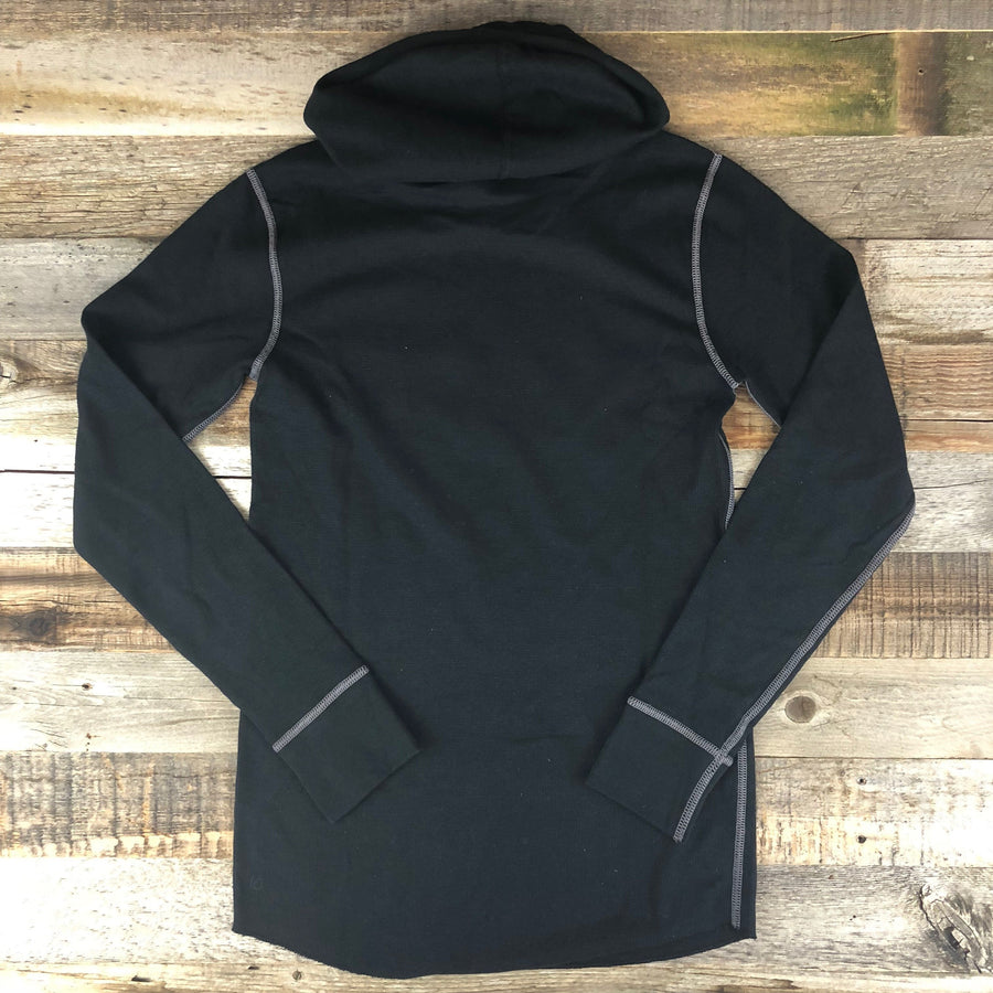Unisex Bison Surf Quiver Hooded Thermal- Blackout