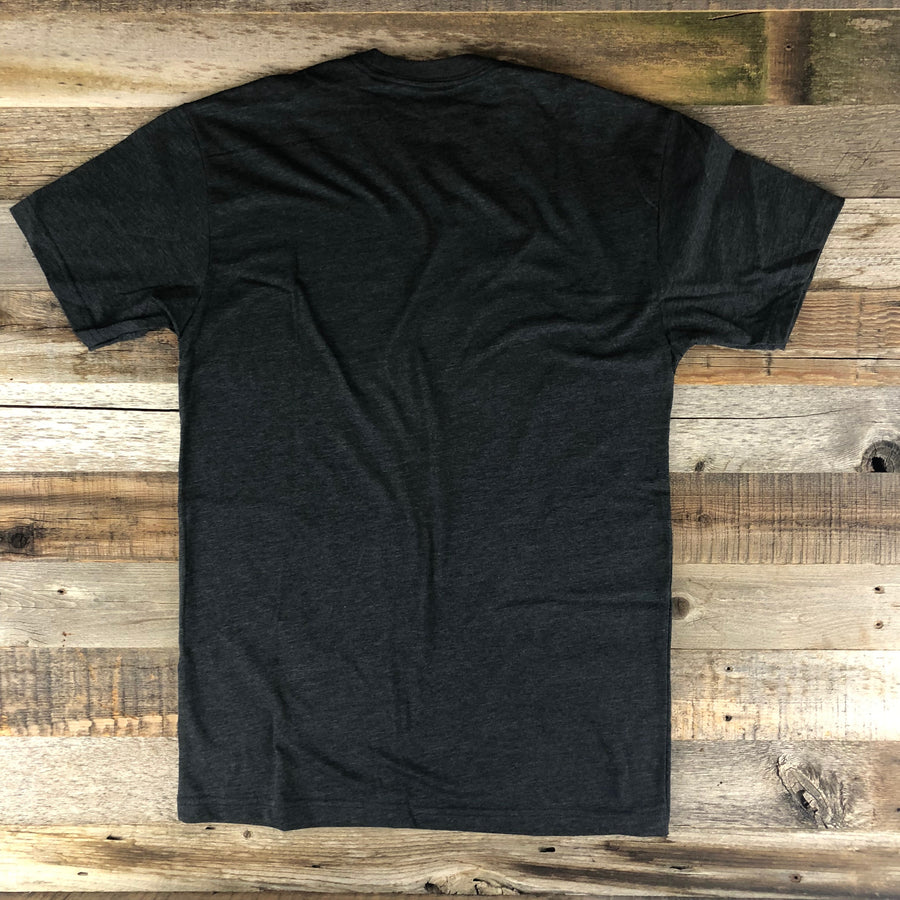 Men's SURF WYOMING® Bison Quiver Tee - Charcoal