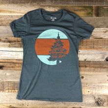 Load image into Gallery viewer, Surf Wyoming-W's Circle Bennies Tee - Indigo-