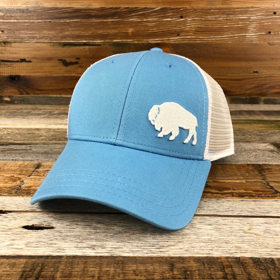 Surf Wyoming-First Park Bison Trucker - Light Blue-