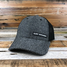 Load image into Gallery viewer, Surf Wyoming-The Basics Trucker - Charcoal Herringbone Wool + Black-