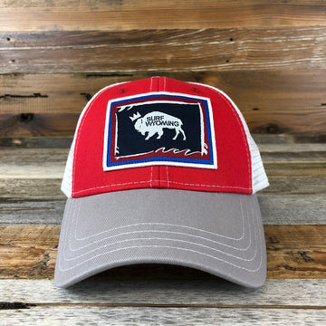Foam State Trucker Hat- Red/Grey
