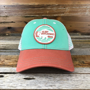Flash Bison Trucker Hat- Kiwi/Peach