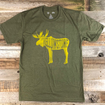 Men's YELLOWSTONE COLLECTION Golden Moose - Military Green