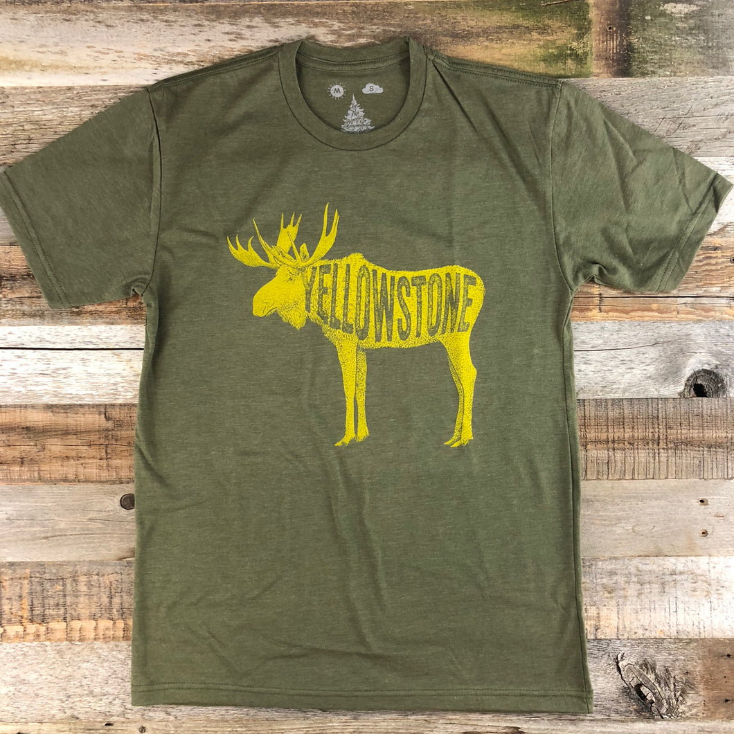 Surf Wyoming-Men's YELLOWSTONE COLLECTION x SW Golden Moose - Military Green-