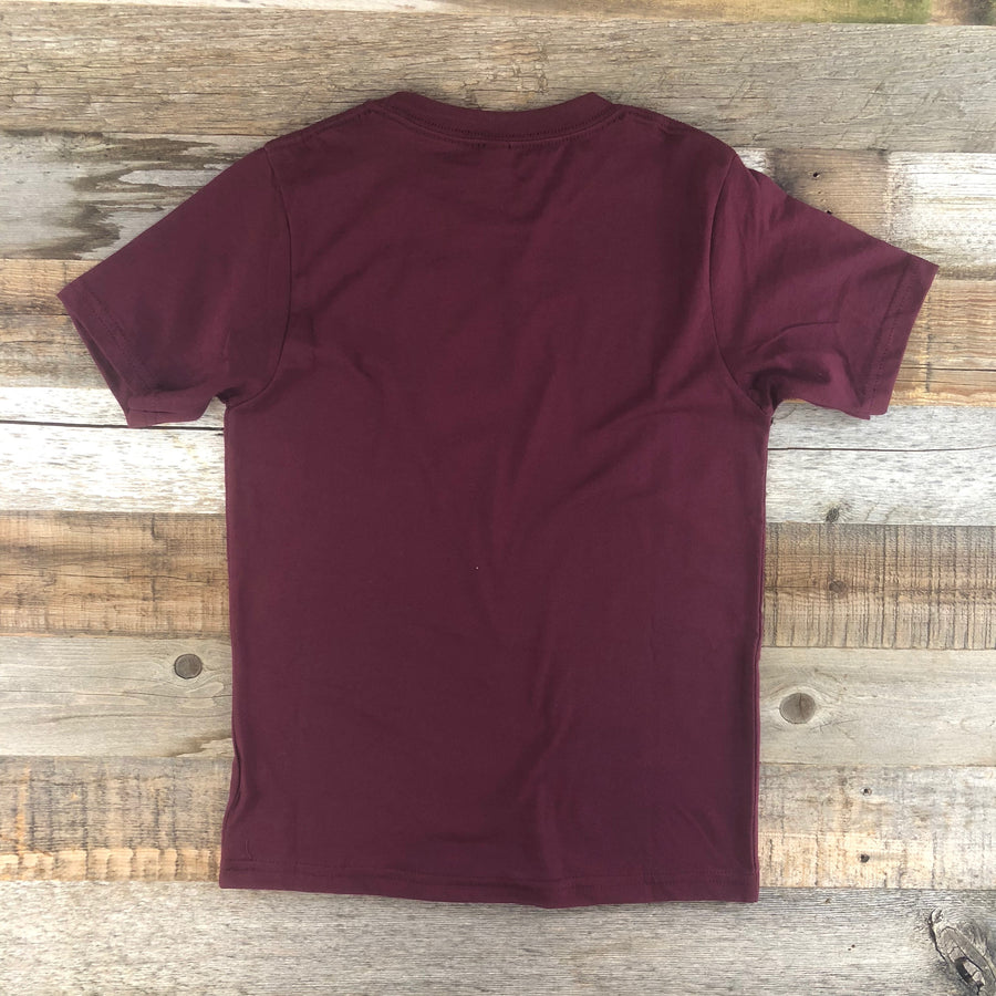 Youth YELLOWSTONE COLLECTION Into The Wild Tee - Maroon