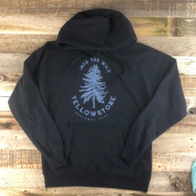Load image into Gallery viewer, Surf Wyoming-UNISEX YELLOWSTONE x SW COLLECTION Into The Wild Hoodie - Navy-