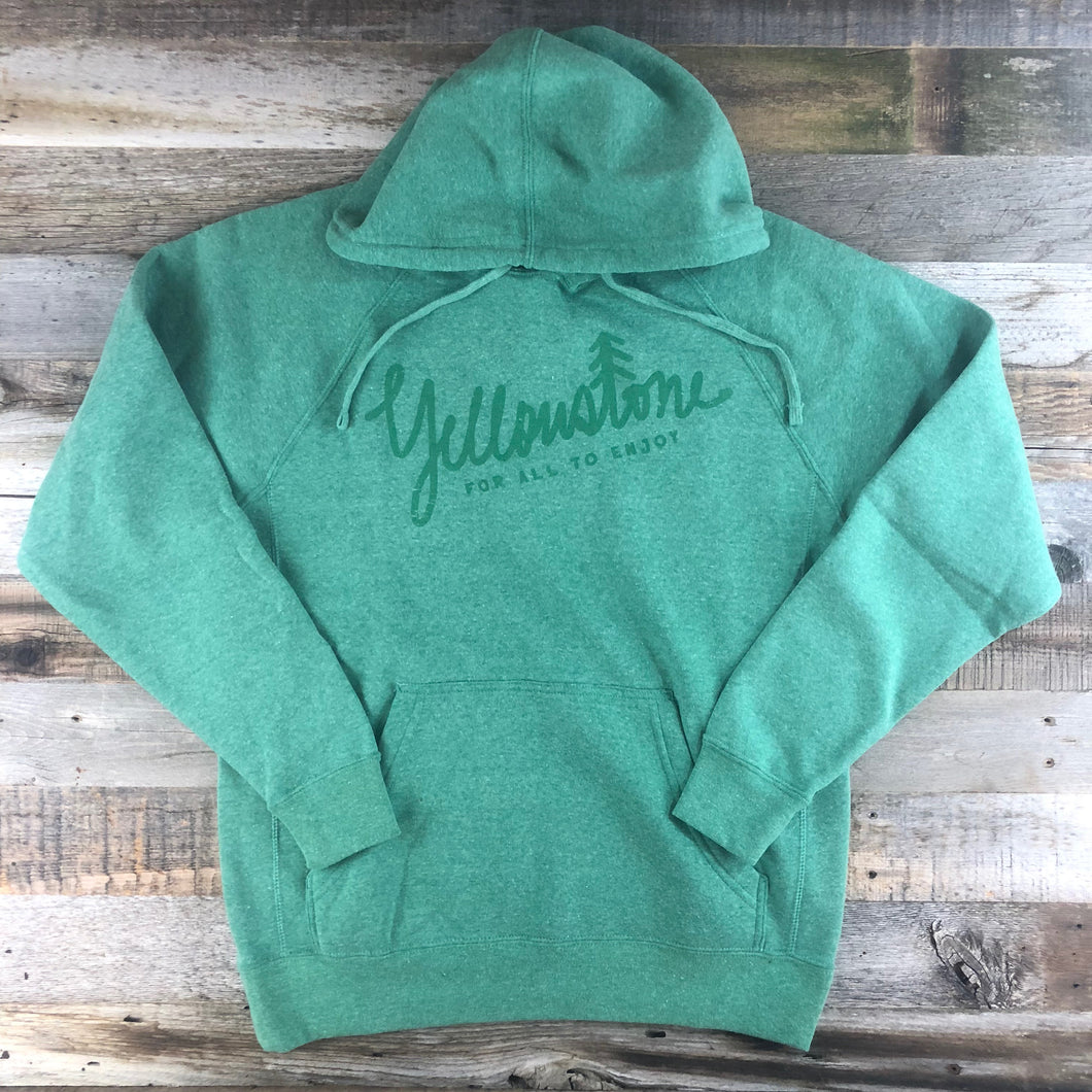 Surf Wyoming-UNISEX YELLOWSTONE x SW COLLECTION Yellowstone Hoodie - Sea Green-