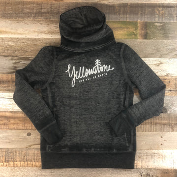 Women's YELLOWSTONE x SW COLLECTION Yellowstone Cowl Neck Hoodie - Heather Black