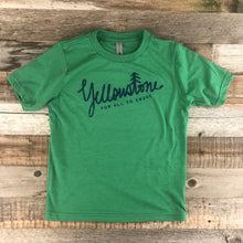 Load image into Gallery viewer, Surf Wyoming-Youth YELLOWSTONE x SW COLLECTION Yellowstone Tee - Kelly Green-