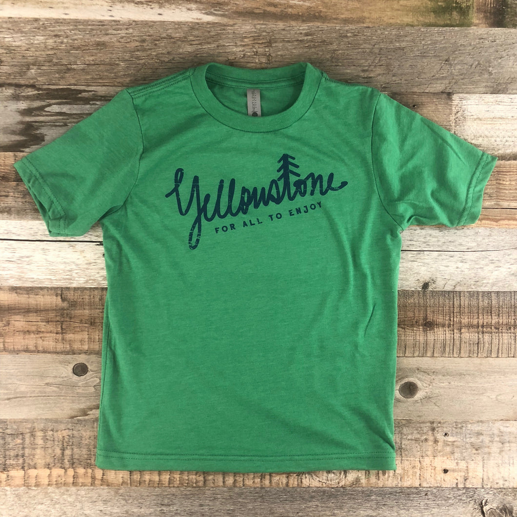 Surf Wyoming-Youth YELLOWSTONE x SW COLLECTION Yellowstone Tee - Kelly Green-