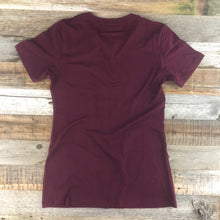 Load image into Gallery viewer, Women's YELLOWSTONE x SW COLLECTION Golden Moose Tee - Maroon