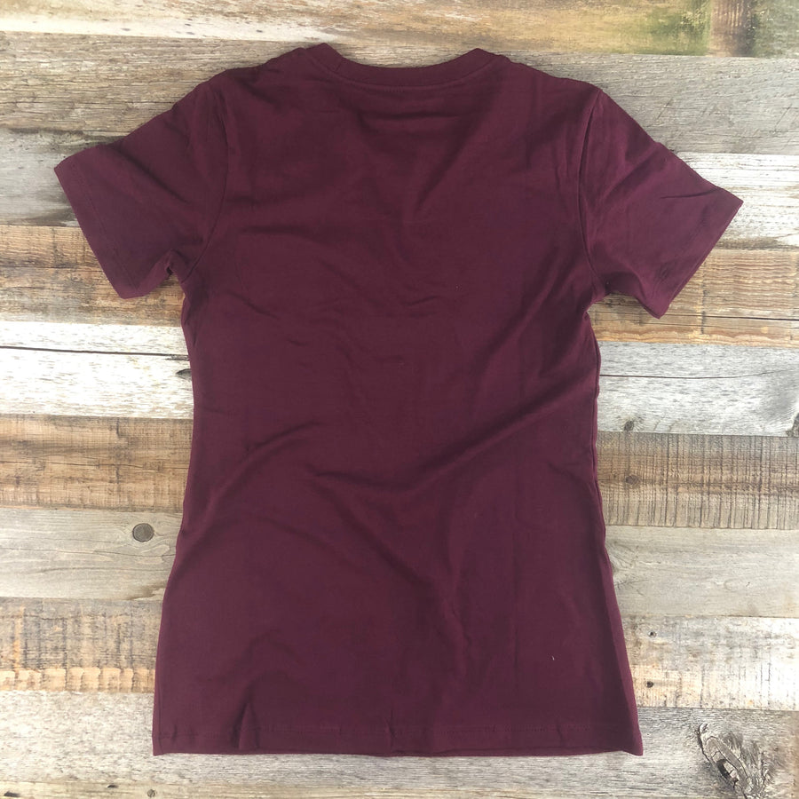Women's YELLOWSTONE COLLECTION Golden Moose Tee - Maroon