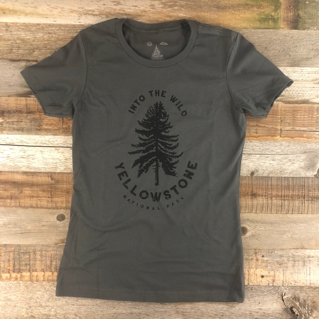 Surf Wyoming-Women's YELLOWSTONE COLLECTION Into The Wild - Heavy Metal-