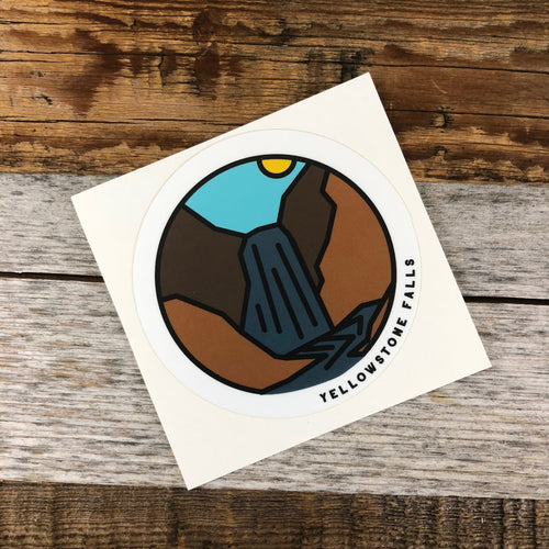 Surf Wyoming-YELLOWSTONE COLLECTION - Yellowstone Falls Sticker-