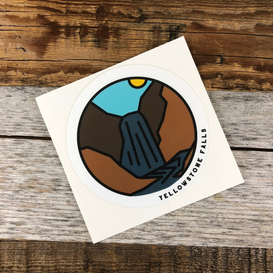 YELLOWSTONE COLLECTION - Yellowstone Falls Sticker