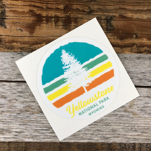 Surf Wyoming-YELLOWSTONE COLLECTION - YNP Wyoming Sticker-